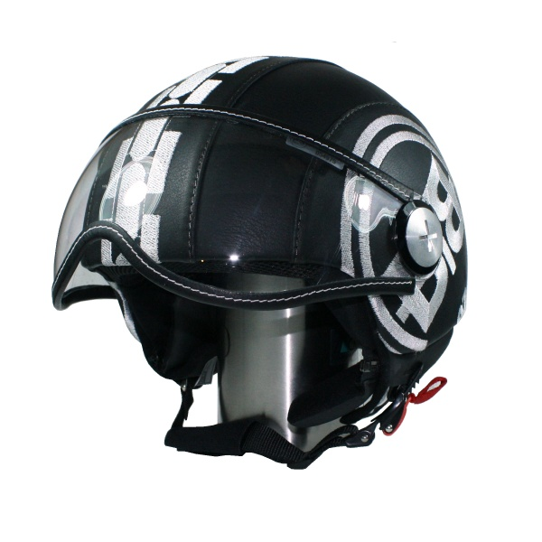 Helmet Leather PILOT Batul Black S