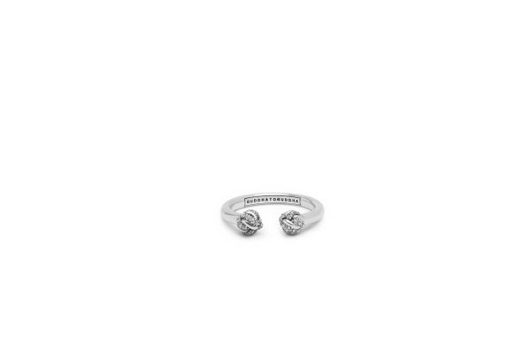 Refined Katja Ring White Zirconia Maat 16