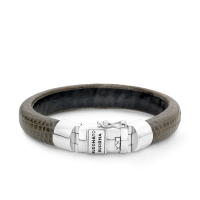 Jack Leather Bracelet Smoke 19 cm