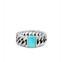 Chain Stone Ring Turquoise