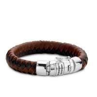 Ben Leather Armband Mix 19 CM