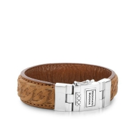 Nathalie Leather Cognac Armband
