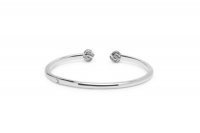 Refined Katja Bangle White Zirconia 17 CM