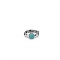 004GR BATAS SPHERE STONE MINT RING