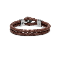 220BR D Ben Leather Knot Brown