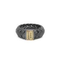 Ben Small Ring Black Rhodium Gold