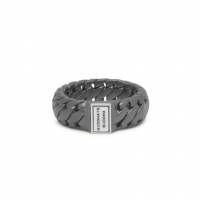 Ben Small Ring Black Rhodium Silver